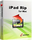 60% Off - Joboshare iPad Rip for Mac. Joboshare iPad Rip for Mac can help you transfer Music, Movie, Photo, ePub, pdf, Audiobook, Ringtone, Contact Podcast and TV Show between iPad and Mac without iTunes easily and fast! As the best Mac iPad Rip, it can fast sync iPad files to iTunes library for management.