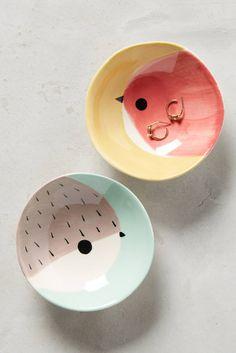 Slide View: 1: Peeking Bird Trinket Dish