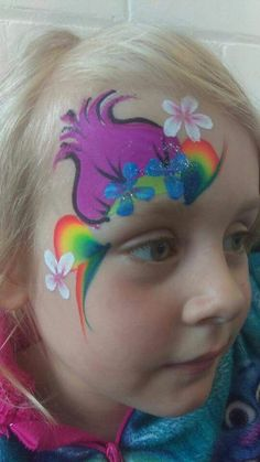 Are you new to face painting? Welcome to a fun adventure that provides a little bit of simple joy to everyone! Girl Face Painting, Face Painting Tips, Face Painting Designs, Painting For Kids, Face Paintings, Rainbow Face Paint, Trolls Birthday Party, Troll Face, Eye Art