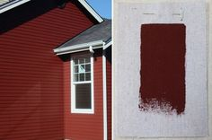 Best Exterior Outdoor Red House Paint Colors, Benjamin Moore Cottage Red, Gardenista