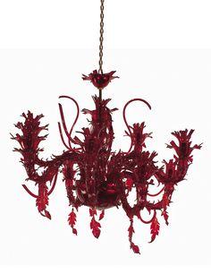 ¡Súper maravillosa! Rosso Corallo, lámpara hecha a mano por los artesanos de  Murano Luxury Glass para Roberto Cavalli Home.