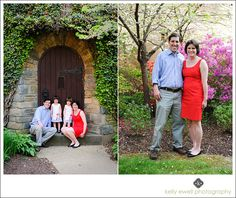 Natural light family portraits at the Franciscan Monastery in Washington, DC.