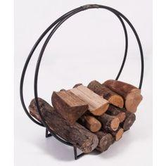 """Harewood Park"" Contemporary Wrought Iron Log Holder"