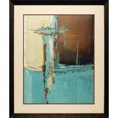 Found it at Wayfair - 'Oxido on Teal I' by Patricia Pinto Framed Painting Print