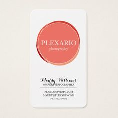 Orange Dot Modern Photography Studio Business Card