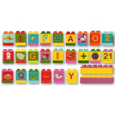 Dream Blocks ABCs Building Set - 28 Fun and Educational Wooden Blocks that are Duplo* compatible - gift coach Red Y, Gift Coupons, Best Kids Toys, Wooden Blocks, Toddler Toys, Cool Toys, Kids Learning, Abcs, Education