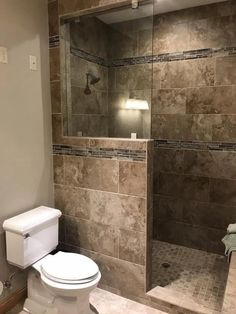64 small bathroom designs you'll fall in love with 12 < moeshouse Bathroom Design Luxury, Bathroom Design Small, Bathroom Layout, Bathroom Designs, Small Bathroom Remodeling, Bathroom Remodelling, Bathroom Makeovers, Budget Bathroom, Bathroom Cleaning