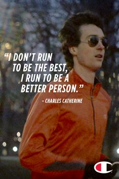 """I don't run to be the best, I run to be a better person."" Get Charles full story at champion.com"