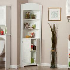 RiverRidge Home Ellsworth 23.22 in. W Freestanding Tall Corner Etagere Cabinet in White-06-027 - The Home Depot