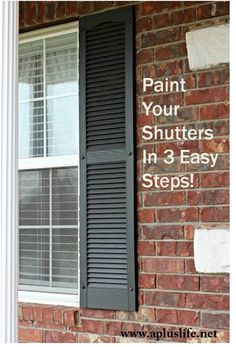Paint Your Own Shutters in 3 steps