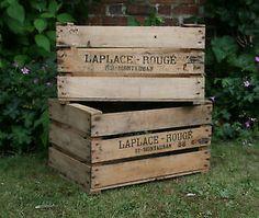 Vintage Wooden Apple/Fruit Crates Rustic Old Bushel Box Shabby Chic Storage & Vintage Fruit Boxes - Large Stock Available - Lugs - Crates - Old ... Aboutintivar.Com
