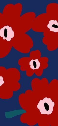 Marimekko Wallpaper, Iphone Wallpaper, Cute Backgrounds, Wallpaper Backgrounds, Cute Love Gif, Cute Cartoon Wallpapers, Print Patterns, Red Daisy, Screensaver