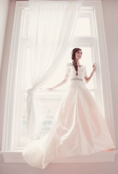 beautiful modest wedding gown
