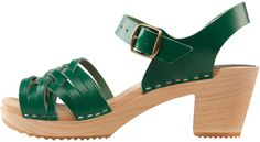 Purchase Herringbone Green Clog from Cape Clogs on OpenSky. Clog Sandals, Clogs Shoes, Open Toe Sandals, Shoe Boots, Walking In High Heels, Jeweled Shoes, Chunky Sandals, Latest Shoes, Leather Clogs