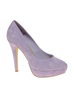 ASOS POPPET Suede Platform Court Shoes in Lilac $78.78
