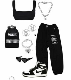 Swag Outfits For Girls, Cute Swag Outfits, Cute Comfy Outfits, Teenager Outfits, Teen Fashion Outfits, Retro Outfits, Mode Outfits, Look Fashion, Stylish Outfits