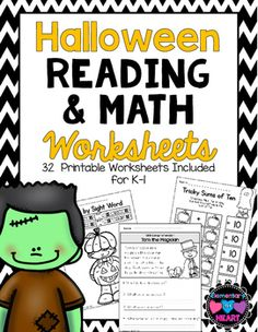 Are your kiddos CRAZY about Halloween??  These worksheets will keep them engaged while they work!Included:- 5 Basic Halloween Themed  Reading Comprehension Worksheets- Halloween Word Trace- 3 Halloween Story Prompts- All About Spiders (Non Fiction Questions)- All About Pumpkins ( Non Fiction Questions)- 2 Color by Sight Word- Frankenstein Color ( Color Words)- 2 Beginning Sounds Worksheets- 2 Ending Sounds Worksheets- Missing Number Sequence- 2 Color by Number Worksheets- Spooky Sums of 10…