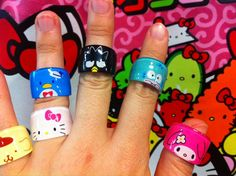 sanrio rings...no chococat? :(