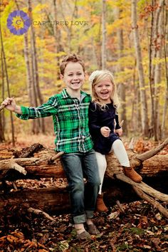Children Photography Siblings Brother and Sister poses Wooded location Unique Family Photo Family Photography Captured Love Photography