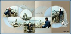 2 flouté Cairns, Album Photo Scrapbooking, Decoration, Photos, Photo Wall, Frame, Home Decor, Stacked Stones, Template