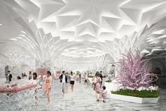 日本橋三越リモデルの環境デザインに隈研吾、2018年に第一期オープン