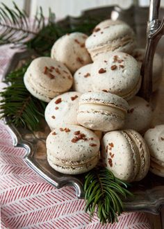 Spiced Eggnog Macarons recipe - Christmas approved (1) From: Style Sweet CA, please visit