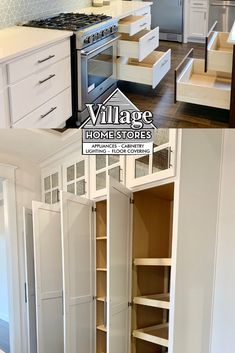 Tired of junk piling up on your counter tops and taking away focus from your beautiful kitchen?? Floor to ceiling cabinetry could be your perfect solution! Kitchen Village, Kitchen Storage Solutions, Kitchen Installation, At Home Store, Counter Tops, Kitchen Flooring, Beautiful Kitchens, Home Kitchens