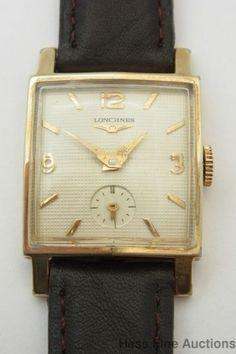 Genuine Vintage Art Deco Longines Cool Crystal 17J Mens Wrist Watch to Fix #Longines