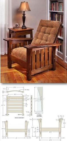 Morris Chair Plans - Furniture Plans and Projects #woodworkingtools #WoodcraftPlans
