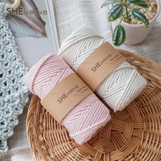 3.5MM Macrame cord cotton cordcraft cord ropemacrame rope | Etsy Macrame Supplies, Macrame Projects, Loom Weaving, Tapestry Weaving, Macrame Cord, Cotton Rope, Handmade Items, Handmade Gifts, Plant Hanger