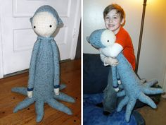 OLEG the octopus made by rookie131 / crochet pattern by lalylala