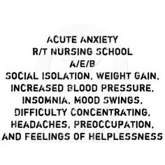 lol...so true with nursing students though!