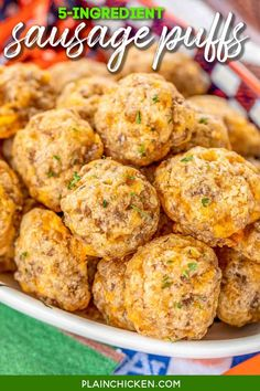 Sausage Puffs - CRAZY good!!! SO simple to make and they taste amazing!!! Only 5 ingredients - butter, cheddar cheese, sausage, Worcestershire sauce,  and flour. These things fly off the plate at parties. You will definitely want to double the recipe! A great alternative to our usual sausage balls. SO GOOD!!! #sausage #tailgating #appetizer #partyfood #quick #gameday #breakfast Breakfast Appetizers, Quick Appetizers, Appetizers For Party, Appetizer Recipes, Snack Recipes, Cooking Recipes, Tailgate Appetizers, Breakfast Ideas, Cheese Sausage