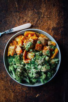 This Rawsome Vegan Life: CREAMY BUTTERNUT SQUASH, BROCCOLI + CHIPOTLE ALMOND SAUCE