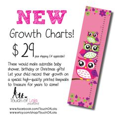Girly Owl Growth Chart!