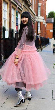 Susie Lau in a Molly Goddard dress