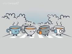 The Beatles, Abbey Road: Let it Tea Tee Illustration, Tee Kunst, Café Chocolate, Happy Week End, Tea Quotes, Tea And Books, Cuppa Tea, My Cup Of Tea, Coffee Love
