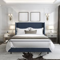 Modern rooms: 60 ideas to decorate a room in this style - Home Fashion Trend Master Bedroom Design, Home Bedroom, Bedroom Wall, Master Bedroom Decorating Ideas, Romantic Master Bedroom Ideas, Luxury Master Bedroom, Masculine Master Bedroom, Hotel Bedroom Decor, Wainscoting Bedroom