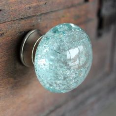 Light up your space with the reflections of sunlight glinting off these exquisite glass drawer knobs! The light blue and silver adds a bright, refreshing splash of color and elegance to these cabinet knobs. The color of these furniture knobs reminds me of Knobs And Knockers, Knobs And Pulls, Door Knobs, Door Pulls, Beach Cottage Style, Beach House Decor, Coastal Style, Coastal Decor, Glass Drawer Knobs