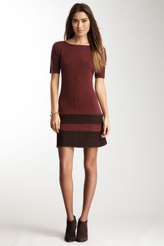 Ainsley  Cashmere Short Sleeve Dress