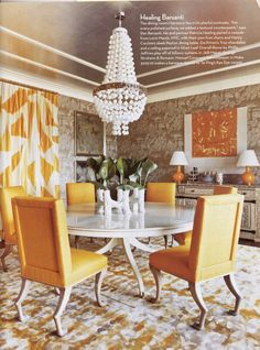 Dining room Oly Studio dining chairs round table