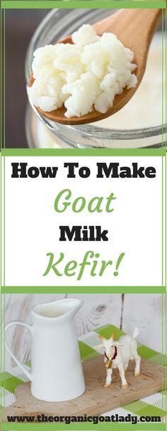 How To Make Goat Milk Kefir!