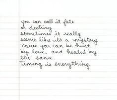Timing Is Everything Quote | timing is everything - country strong.