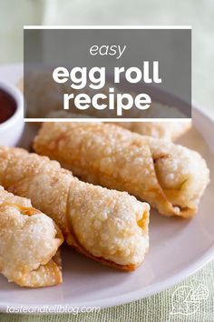 Looking for a go-to egg roll recipe? This Easy Egg Roll Recipe is simple and will rival the egg rolls from your local take out restaurant. #eggroll #recipe Easy Egg Roll Recipe, Egg Roll Recipes, Air Fryer Fish, Egg Roll Wrappers, Coleslaw Mix, Egg Rolls, A Food, Eggs, Restaurant