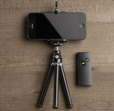 Tripod with Remote Shutter for iPhone
