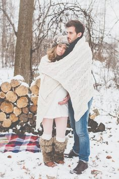 Bundle Up! It's Cold Outside! Winter Maternity Pictures, Outdoor Maternity Photos, Family Maternity Photos, Newborn Pictures, Winter Pregnancy Photos, Maternity Winter, Pregnancy Pics, Outdoor Photos, Newborn Photography Tips