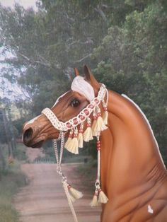 3 -CM LSQ Hand Braided Show Halter 4 Peter Stone,Breyer, Resin Arab Model Horse