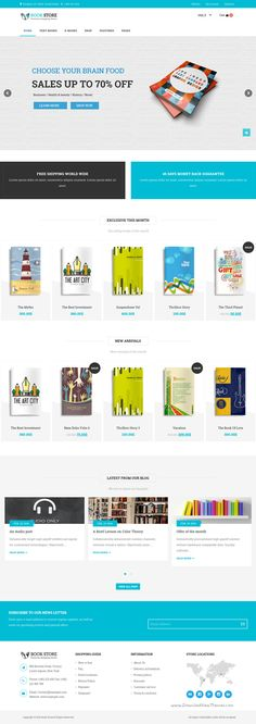 Book Store WordPress theme is responsive WooCommerce theme for selling online #books, #eBook or magazine. #webdesign Download Now!