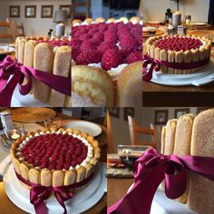 Food Fantasy, Raspberry Cake, Sweet Desserts, Beautiful Cakes, No Bake Cake, Waffles, Food And Drink, Cooking Recipes, Cheesecake