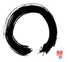 The Zen Circle or Enso is a key symbol in Zen Buddhism. The painting of a Zen Circle encompasses and reveals the state of awareness of the artist. If he or she is awake and free, the energy of the painting will reveal and transmit this freedom to those who view the painting, even long after the artist has left this physical manifestation.